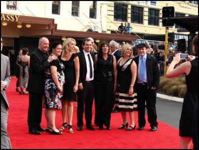 Scoop.co.nz image: The Lovely Bones Wellington Premiere Red Carpet - Group of Punters Take A Souvenir Pic