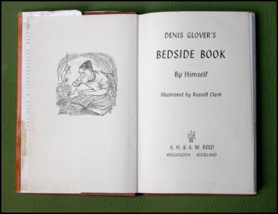 Title page from Dennis Glover's Bedside Book, illustration by Russell Clark