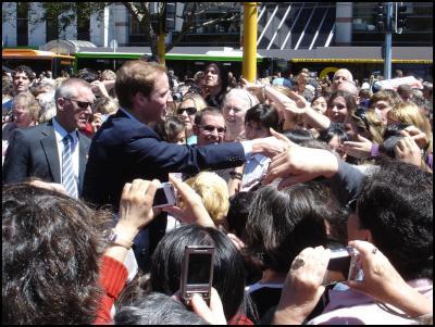 Prince William visits Wellington, New Zealand. Image: flickr user tchelseat