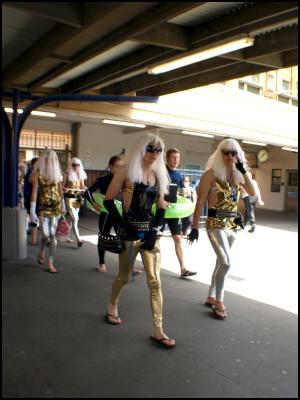 wellington new zealand sevens costumes 2010 - lady gagas