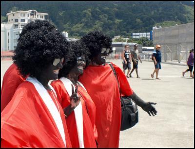 wellington new zealand sevens costumes 2010 - blackface