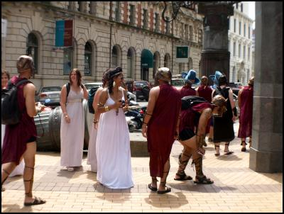 wellington new zealand sevens costumes 2010 – greek warriors and maidens