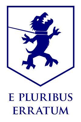 Auckland Super city logos: coat of arms e pluribus erratum