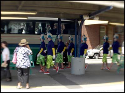 wellington new zealand sevens costumes 2010 - scary clowns