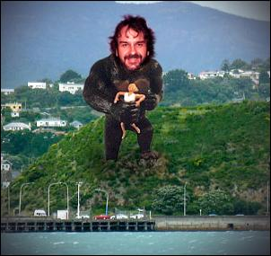 wellywood sign, peter Jackson, king kong, lord of the rings
