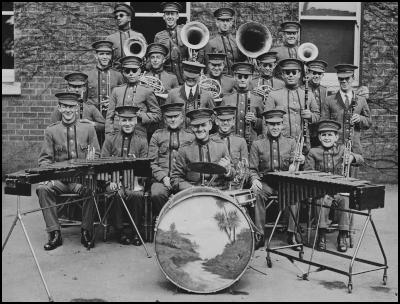 Royal New Zealand Foundation of the Blind: The Institute Band prior to touring in New Zealand 1935.