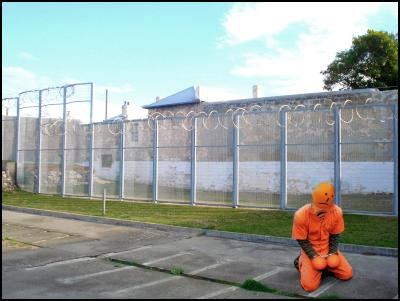orange elections man, elections, prison voting, jumpsuit, human rights