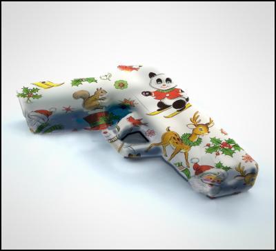gun, present, gift, wrapping, Christmas, police