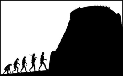 evolution, beehive, parliament, cavemen