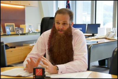 Simon Power, long beard