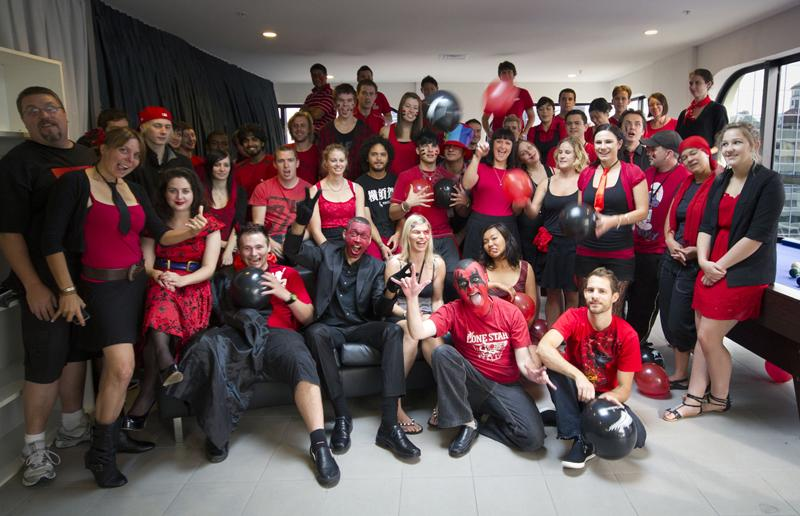 Fabulous Media Design School Turns Red Black For Christchurch Home Interior And Landscaping Eliaenasavecom