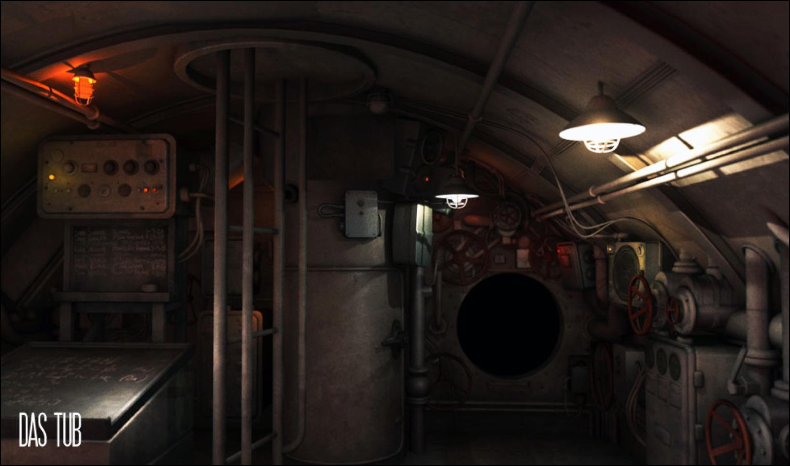 Sub interior submarine interior exterior pinterest for Exterior interior