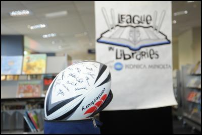 leaugue in libraries – signed ball