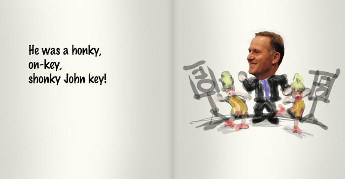 He was a honky, on-key, shonky John Key.