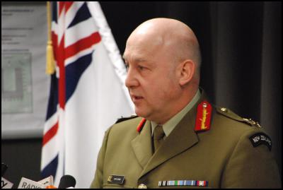 New Zealand Defence Force NZDF press conference  on death of NZSAS (SAS) trooper Doug Grant - Chief of Defence Force Lieutenant General Rhys Jones