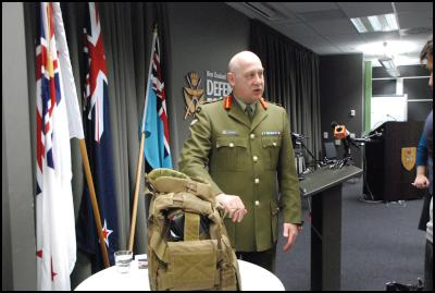 New Zealand Defence Force NZDF press conference  on death of NZSAS (SAS) trooper Doug Grant - body armour