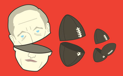 Tim Denee illustration - Vladmir Putin, Russia and the Rugby World Cup