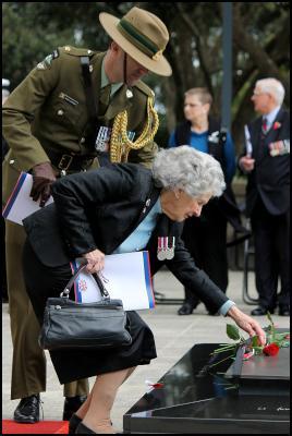 Battle of Britain commemoration 2011, Wellington War Memorial, New Zeland. Photo credit: Al Simonds.