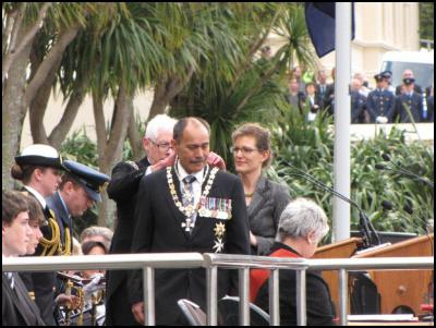 Swearing-in ceremony of Jerry Mateparae as New Zealand's new Governor-General, outside Parliament at lunchtime on Wednesday. Photos by Richie Wards.