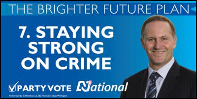 National election hoardings, billboards, 2001: 7. Staying Strong On Crime