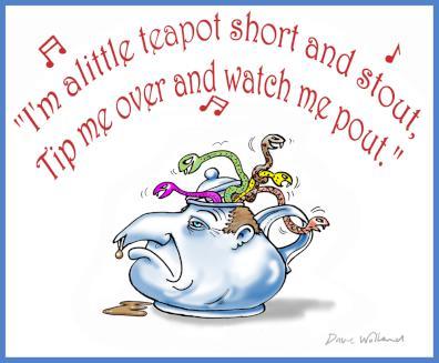 Dave Wolland cartoon – I'm a little Keypot: John Key, teapot tapes, epsom