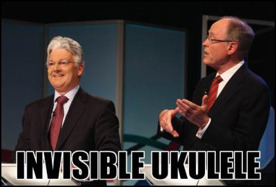 Don Brash, Peter Dunne, Invisible Ukulele, election, debate, nzvotes, votenz, new zealand, election 2011