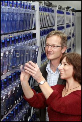 Julia Horsfield, Director of the Otago University Zebrafish Facility with Dr Ian Morrison