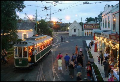 MOTAT NIGHTS, CHRISTMAS LIGHTS, tram