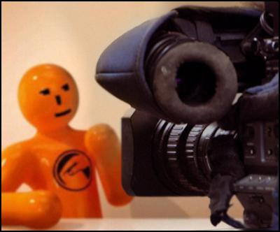 orange election man, camera, broadcasting allocation