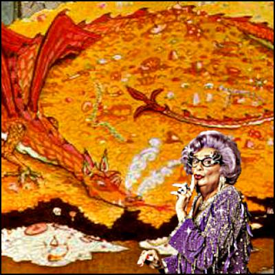 the hobbit, barry Humphries, dame edna