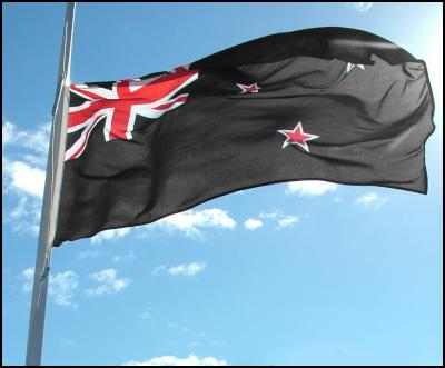 flag at half
