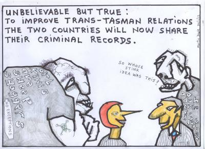 At a time when we are seeking to improve relations between New Zealand and Australia, what could be friendlier than agreeing to share our criminal records...