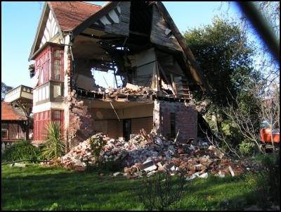 The same house after the June 13 earthquakes.
