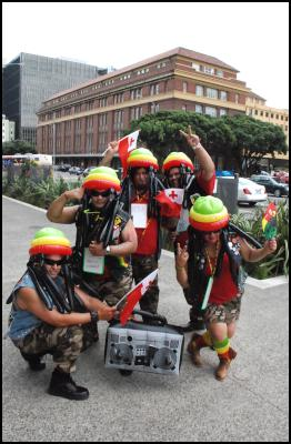 inflatable rastafarians