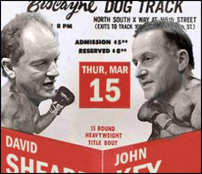 david shearer v john key, labour, national, boxing