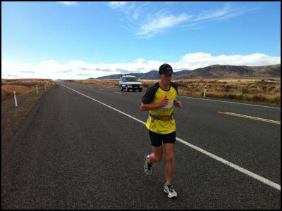 Mathew runs the Desert Road.