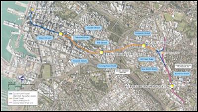 auckland city rail link route