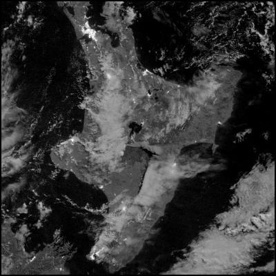 NASA Earth Observatory Infrared image of Mt Tongariro, New Zealand eruption