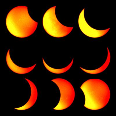 November 2012 Solar Eclipse - Collage from the Stardome Observatory & Planetarium