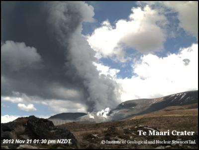 A view of Tongariro this afternoon at 1:30 pm, shortl