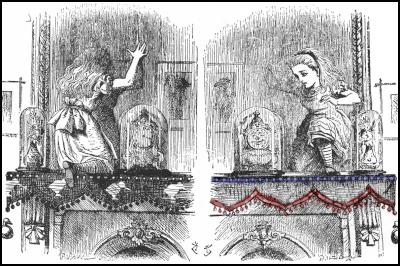 alice, through the looking glass, lewis carrol, john tenniel, nz, us, united states, bunting, trade agreements, tpp, tppa