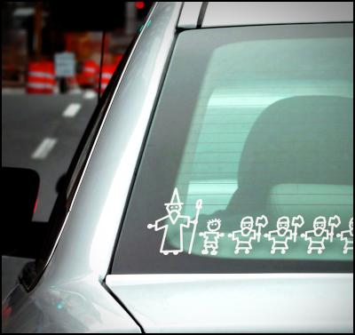 the hobbit, family window decals