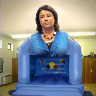 Paula Bennett, bouncy castle