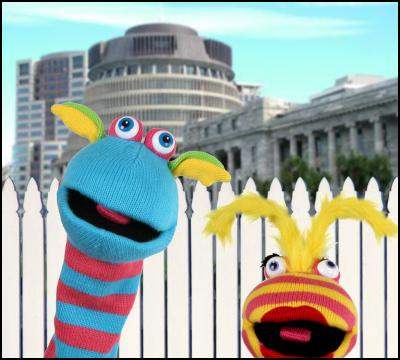 Puppets, beehive,