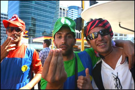 Wellington Sevens costumes, mario, luigi, pirate, realistic italians