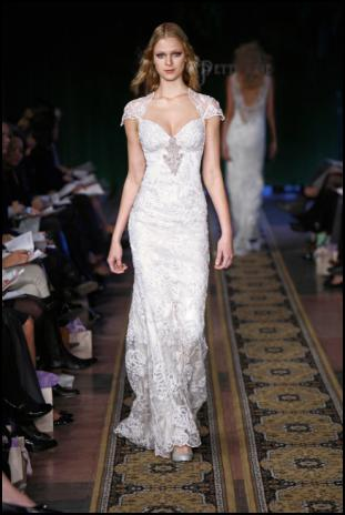 Wedding dresses by LA-based designer, Claire Pettibone, are now available at Auckland bridal boutique, Primrose & Finch, including Mystere