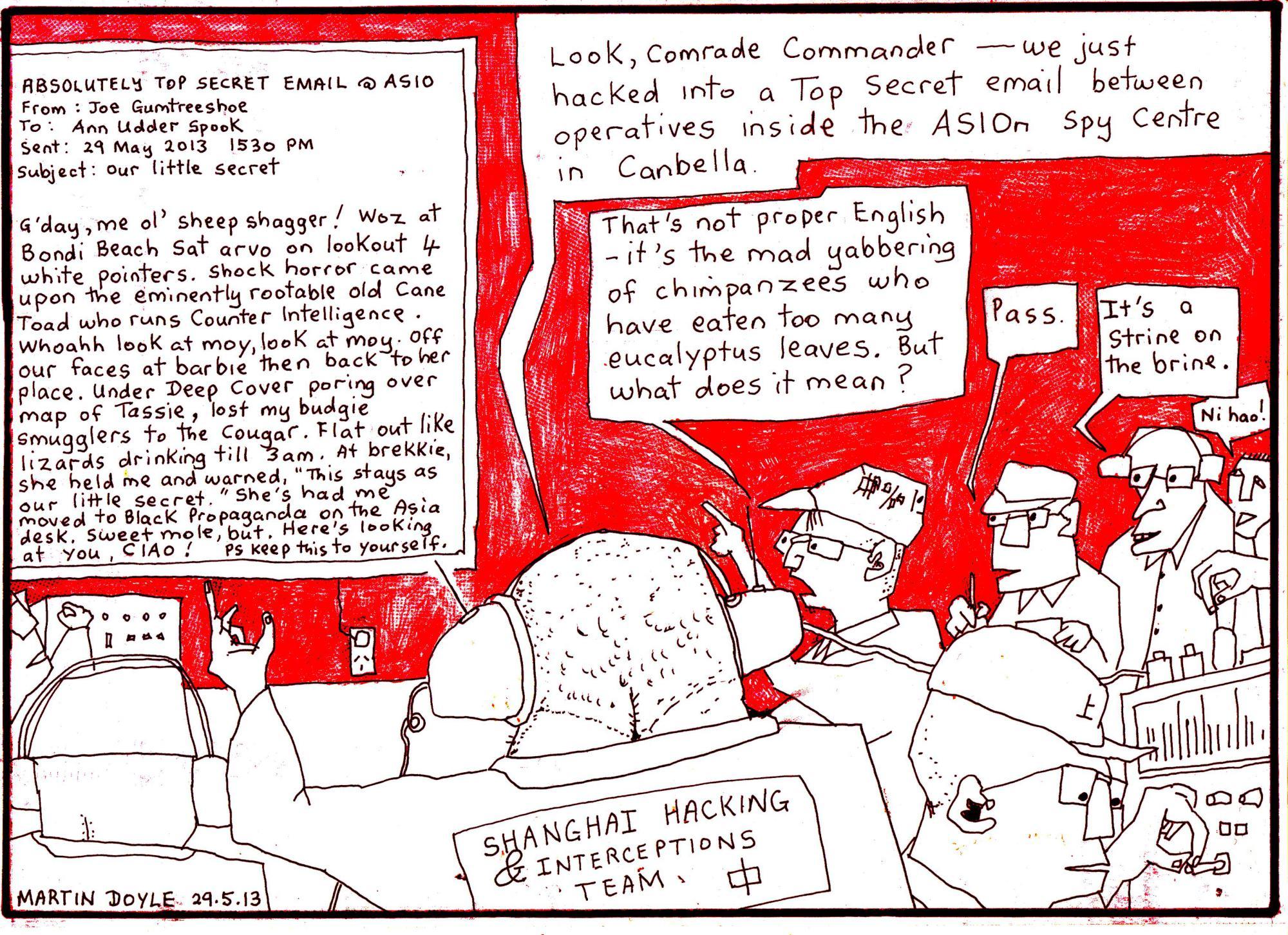 Martin Doye cartoon ASI hacks
