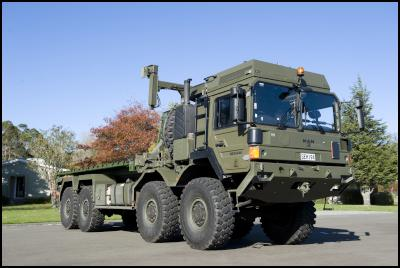 The new NZDF vehicle - Medium heavy operational vehicle - is announced by the minister of defence - Hon Dr Johnathan Coleman.
