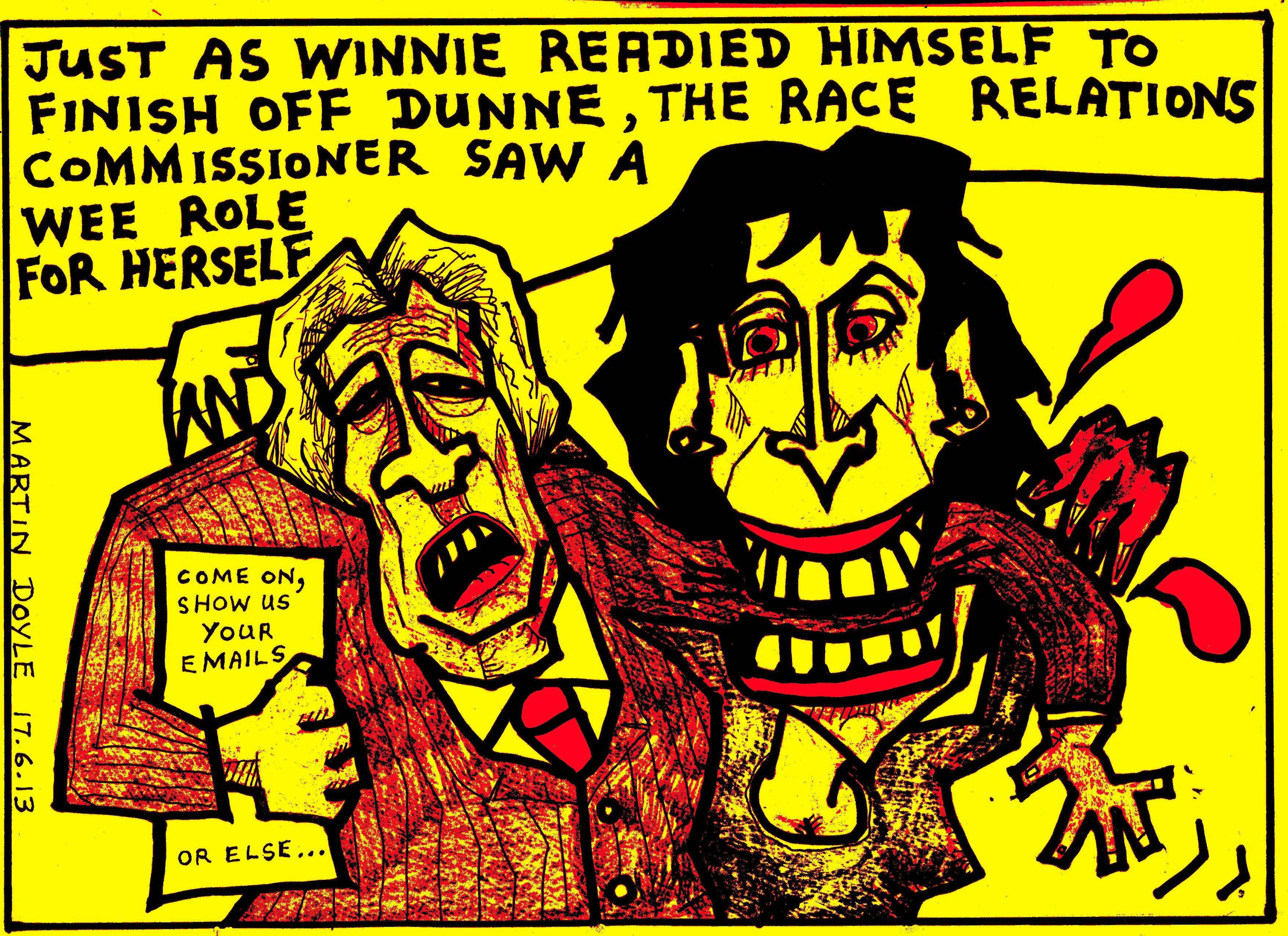 Community Scoop Martin Doyle Cartoon Yellow Peril Ambush