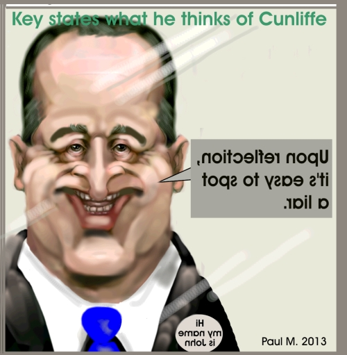 John Key On David Cunliffe: On relfection, it's easy to spot a liar.